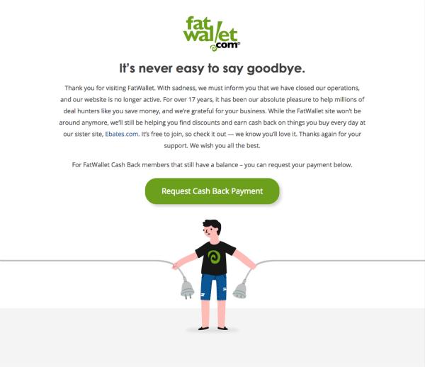 fatWallet Goodbye